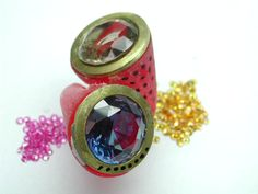 maybe pink sapphires and yellow sapphires?