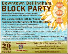 This is TODAY!!  September 15th #Bellingham Traverse Blockparty  www.livegoodbehappy.com