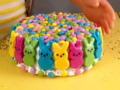 Special Edition Peeps Cake!--polymer clay bakery creations for 18 in dolls (American Girl, Our Generation)