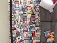 Nina's 5 year crazy quilt.