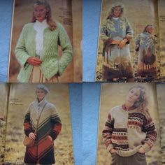 Vintage 1982 knitting patterns Francetricots by GransTreasures
