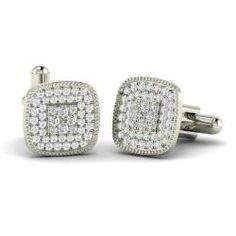 Men's - Caleb - SI Diamond Cufflinks in 14k White Gold (1.69 ct.tw.)
