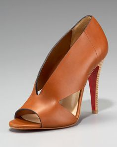 Christian Louboutin Creve Coeur Modern Pump, Brown or Black - Neiman Marcus