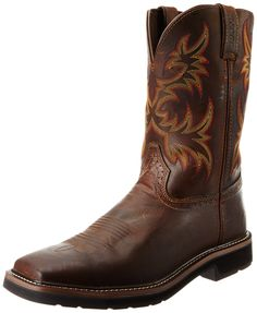 online shopping for Justin Original Work Boots Men's Stampede Pull-On Square Toe Work Boot from top store. See new offer for Justin Original Work Boots Men's Stampede Pull-On Square Toe Work Boot Western Boots, Cowboy Boots, Adidas Men, Nike Men, Winter Outfits Men, Fashionable Snow Boots, Square Toe Boots, Comfortable Boots, Justin Boots