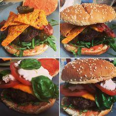 Nacho-Burger Mozarella-Burger