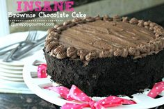 Insane Brownie Chocolate Cake Recipe | SnappyGourmet.com