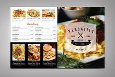 Vegetarian Restaurant Food Menu  Sample Design