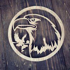 Bald eagle scroll saw work.