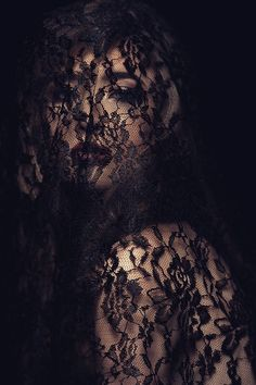 prop - big piece of lace; try shooting thru lace (not necessarily model wearing it but lace as light modifier)