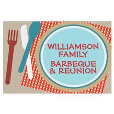 Family Reunion Picnic Barbeque Signs