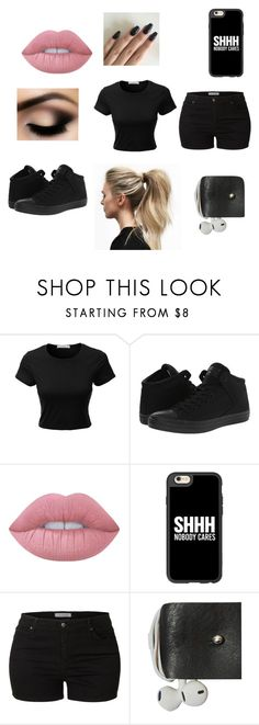 """What my sister wears"" by theavengers353 ❤ liked on Polyvore featuring LE3NO, Converse, Lime Crime, Casetify and Kate Sheridan"
