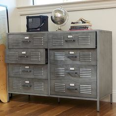Locker Dresser from PBteen. Saved to Apartment. Shop more products from PBteen on Wanelo. Locker Furniture, Teen Dresser, Wide Dresser, Unpainted Furniture, Antique Furniture, Modern Furniture, Dresser Bed, Dresser Storage, Homemade Home Decor