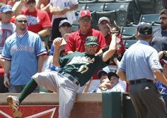 Oakland first baseman Adam Rosales (17) catches a fly foul ball for an out. The Oakland Athletics defeated the Texas Rangers 5-4 in 10 innings in Arlington, Texas, Thursday, May 17, 2012. (Ron Jenkins/Fort Worth Star-Telegram/MCT) Photo: Ron Jenkins, McClatchy-Tribune News Service / SF