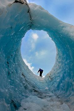 skyward bound - ice arch, Franz Josef Glacier, Westland Tai Poutini National Park, New Zealand