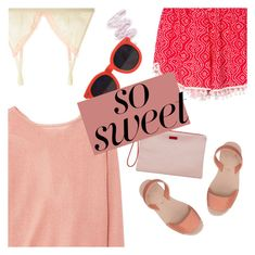 """""""So Sweet: Pastel Sweaters"""" by megan-vanwinkle ❤ liked on Polyvore featuring Mimi Holliday by Damaris, MANGO, Lime Crime, WithChic, Karen Walker, polyvoreeditorial, pastelsweaters and powerlook"""