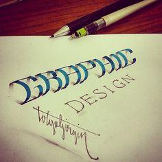 3D Lettering with Parallelpen-Brushpen&Pencil - Part 3 on Behance