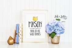 King of All Wild Things  Custom Where the by InkandLetterDesigns
