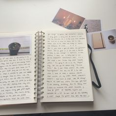photographs on journal pages