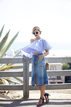 by Late Afternoon. Chic Summer Style, Cool Style, My Style, Hippie Style, Denim Fashion, New Fashion, Womens Fashion, Yves Saint Laurent, Style Snaps