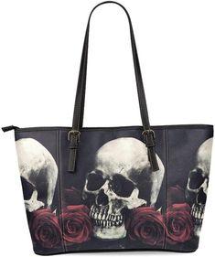 Interestprint Custom Orange Skulls Classic Women Top Handbag Shoulder Bag