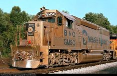 RailPictures.Net Photo: BO GM50 Baltimore & Ohio (B) EMD GP40-2 at Brunswick, Maryland by David B Davies