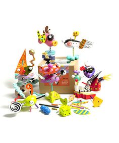 These are so fun! Like Mr. Potato Head, but totally funkified.  ZoLO·ology Toy Figurine Set by ZoLO ~ on sale at Zulily today!