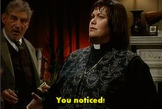 21 Times Dawn French Proved She's The Funniest Woman In Britain Vicar Of Dibley, Dawn French, Vicars, Wales Uk, Comedy Show, Hogwarts, Britain, Tv Series, Smile