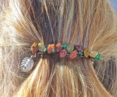 SALE SALE SALE ! Hair Clip// Barrette// Four inch metal// Fall beads //