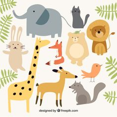fun animal vector