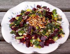 Roasted Beet and Arugula Salad - a winter salad full of local ingredients