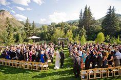 A Colorado mountain wedding in Beaver Creek (image by francesphotography.com).