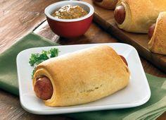 Cheesy Cheddar Roll-Ups - Johnsonville.com #6IngredientsOrLess with #JohnsonvilleSausage Broccoli Alfredo, Chicken Broccoli, Sausage Rolls, Kielbasa Sausage, Cheese Sausage, Roll Ups, Wrap Recipes, Sausage Recipes, Appetizer Recipes