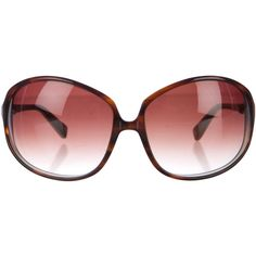 1c5b69e3b81f Pre-owned Oliver Peoples Tortoiseshell Clorette Sunglasses ( 75) ❤ liked on  Polyvore featuring accessories
