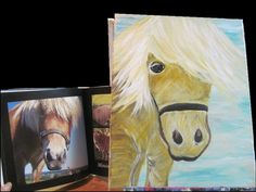 Art for the Animals Painting Party Fundraiser to Benefit the Farm Animal Rescue of Mifflinburg. Here is a painting of miniature horse Princess.