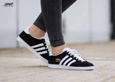 adidas Gazelle OG (Black / White / Metallic Gold)