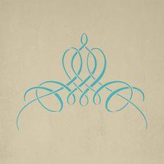 French Flourish Stencil   Royal Design Studio
