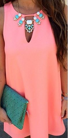 Pink Plain Cut Out Sleeveless Evening Party Beach Casual Chiffon Mini Dress