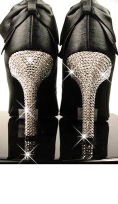 #black#reinstone# heels