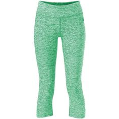 The North Face Women's Motivation Crop Legging ($44) ❤ liked on Polyvore featuring pants, leggings, surreal green heather and the north face