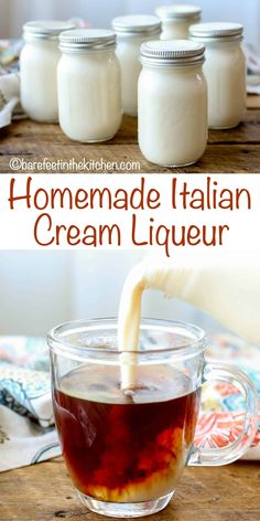Italian Cream Liqueur is perfect for sipping, for stirring into hot coffee or tea, for drizzling over a rich cake, or even for serving with berries. Everyone who tastes this cream liqueur comes back for Holiday Drinks, Summer Drinks, Fun Drinks, Beverages, Craft Cocktails, Mixed Drinks, Healthy Drinks, Homemade Alcohol, Homemade Liquor