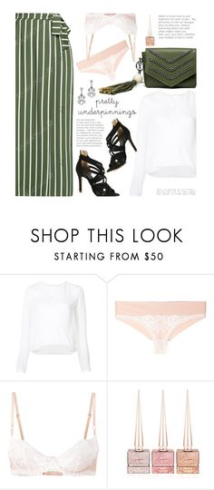 """""""Untitled #3545"""" by beebeely-look ❤ liked on Polyvore featuring Veronica Beard, STELLA McCARTNEY, Christian Louboutin, chic, stripes, maxiskirts, sammydress and prettyunderpinnings"""