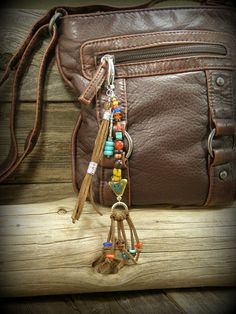 Purse Charm Tassel, Zipper Pull, Beaded Purse Charm, Bohemian Clip, Boho Zipper Pull,  by StoneWearDesigns