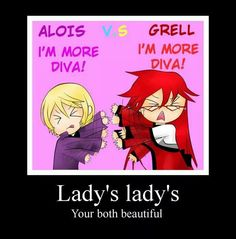 Alois and Grell @Claudia Park Hood Faustus thats YOUR master.....