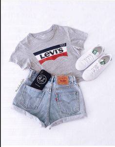 34 Women's White Sneakers Outfit Ideas for Spring Summer Outfits For Teens, Cute Teen Outfits, Teenage Girl Outfits, Cute Comfy Outfits, Girls Fashion Clothes, Teen Fashion Outfits, Stylish Outfits, Outfit Summer, Preteen Fashion