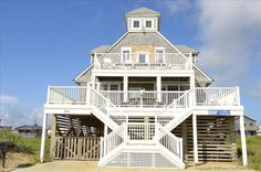 Kitty Hawk NC 3,950 historic house House, 5 Bd, 3 Ba (Sleeps 20) original Hatteras cottage-Historic Lifesaving Station #7 built in 1912 . The owners have preserved its authenticity while also upgrading the amenities to make your stay modern day comfortable. The house offers unobstructed, 180 degree panoramic ocean views  A great home for family gatherings, w/2 family rooms with views,an awesome bunk room for kids that was once the 'crew quarters'. Free wi-fi!