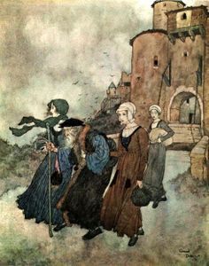 The Wind's Tale - Edmund Dulac (illustrations for Stories by Hans Christian…