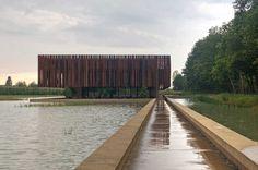 Hofheide crematorium – Holsbeek, Belgium by OMGEVING and RCR « Landscape Architecture Works | Landezine