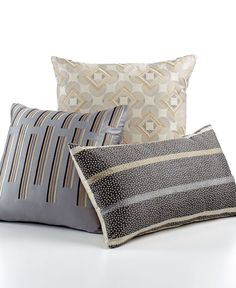 """Hotel Collection Modern Colonnade 20"""" Square Decorative Pillow"""