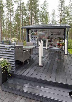 Backyard Retreat, Backyard Landscaping, Scandinavian Garden, Summer Cabins, Hobby House, Cottage Plan, Outdoor Living, Outdoor Decor, Outdoor Play