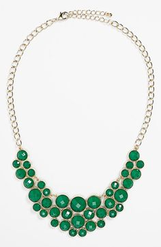 Emerald Statement Necklace (only $20)